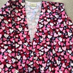 Small Tafford scrub jacket hearts EUC